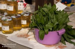 Honey, Wild Garlic, Farmer's Market, Mosoni Piac, Mosonmagyaróvár, Hungary