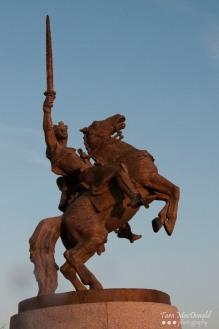 Equestrian statue of King Svatopluk I 'Svatopluk the Great' - by Slovak sculptor Ján Kulich