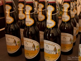 Honey beer from Kobersdorf brewery at the Markthalle Kulinarium Burgenland