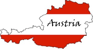 Austria Map Flag