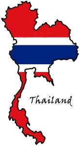 Thailand  Map Flag